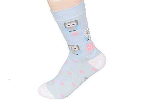 Mädchen Jungen Socken Strümpfe Sneaker Motiv Eule 3 Paar 27-30