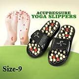 Yugg Acupressure Yoga Slippers, 9/11-inch (Black, 360)