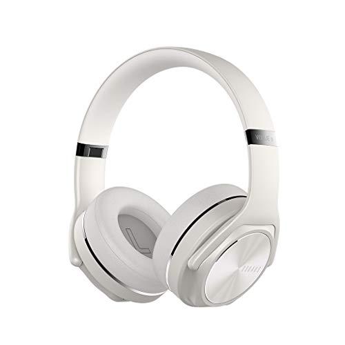 [Neuste Modell] LQIAN DOQAUSBluetooth-KopfhöRer üBer Dem Ohr, Over Ear-KopfhöRer Mit Kraftvollem Bass-Sound,4 Stunden Spielzeit, ÜBer Ohr HiFi Stereo Klapp Headset Und Lautsprecher (Weiß)