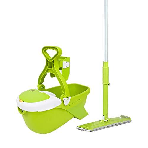 XINJING Juego De Trapeador Y Cubo, 360 Grados Spinning Cleaning Mopm, Sistema Completo De Lavado Y Lavado En Seco, Amado por Los Hogares con Niños Y Mascotas