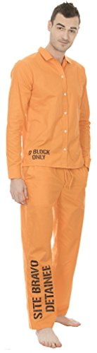 Suicide Squad Site Bravo Detainee 2 piece Mens Costume Set (Suicide Deadshot Squad Kostüm)