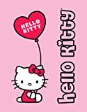 Hello Kitty Decke Vliesdecke 125 x 160 cm - Hello Kitty mit Balloon - super flauschig