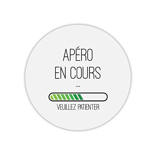 Mauspad, rund, Bedruckt, Aperial in Cours