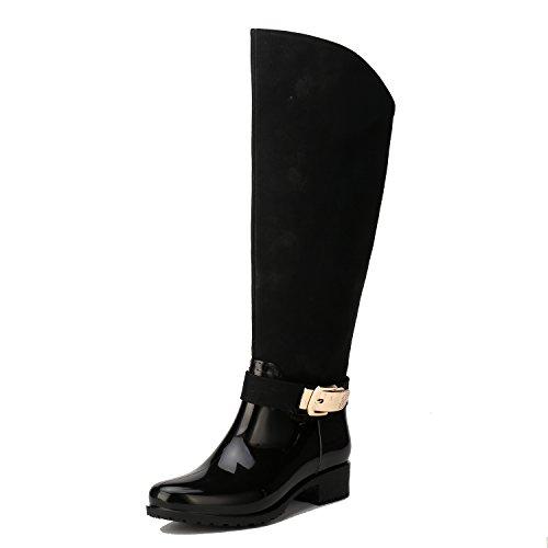 Alexis Leory Cowboy Western, Stivali di gomma alti donna Nero