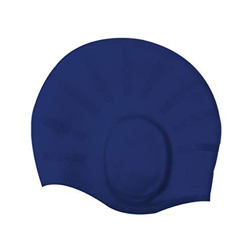 Eucoo cuffia da nuoto protezione dell'orecchio in silicone per adulti e bambini tinta unita cappello alla moda(multicolore,taglia unica)