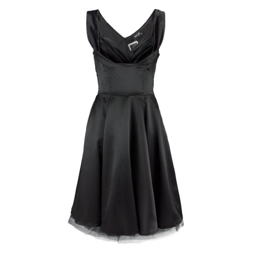 hr-london-robe-satin-plain-noir-m