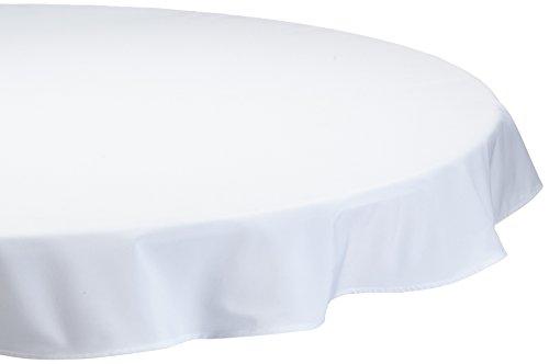 Comptoir du linge lpr08001 Nappe Ronde Polyester/Coton Blanc Diamètre 180 cm