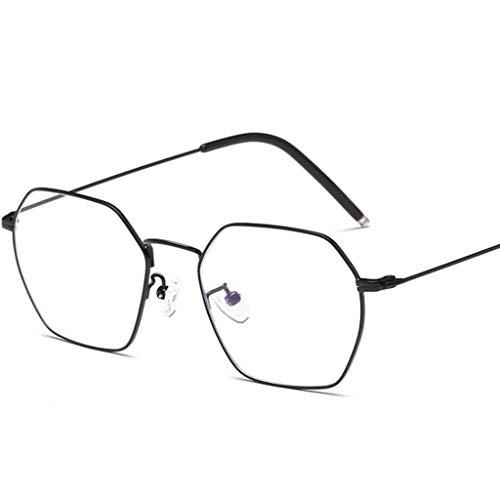 ZYY Anti Blue Light Brille , Unisex Runde Metallrahmen Klare Linse Vintage Retro Geek Mode Brille Specs (Farbe : A)