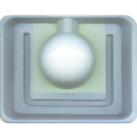 GRAINE CREATIVE 140730 Moule bougie boule Plastique Blanc 23 x 4,5 x 26 cm