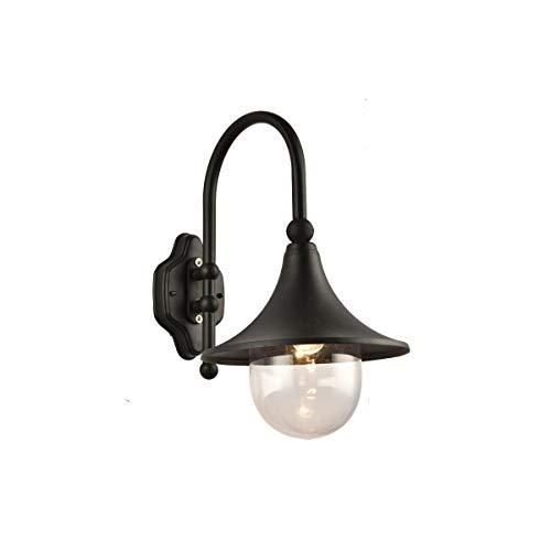 Tube courbé ledwall lampe étanche européenne jardin villa lampe murale rétro balcon extérieur allée lampe de mur de raisin, noir