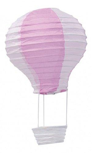 Suspension montgolfière rose 13 x 22 cm