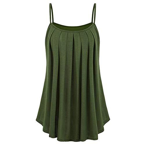 KIMODO Damen Lose ärmellose Tank Top Einfarbig Camisole Weste Plus Size T-Shirt Bluse Sommer Oberteile Große Größen -