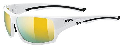 uvex Unisex- Erwachsene, sportstyle 222 pola Sportbrille, white, one size
