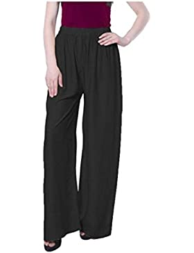 Indian Handicrfats Export Magrace Flared, Regular Fit Women's Black Trousers