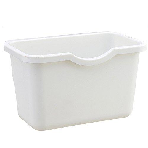 Küche Trash Halterung, hinmay Kunststoff Schrank Türen Aufhängen Trash Creative Desktop Aufbewahrungsbox Fruit Container Organisatoren zum Aufhängen Mülleimer Garbage Halterung Free Size weiß