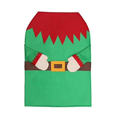 Amosfun Delantal Elfos Fiesta navideña Fiesta Navidad