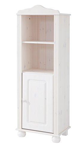 LifeStyleDesign 3001916 Regal Ella, 130 x 30 x 45 cm, kiefer, weiß