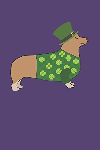 Lucky Corgi Notebook: St. Patrick's Day Welsh Corgi in Dog Dress Lined Journal -