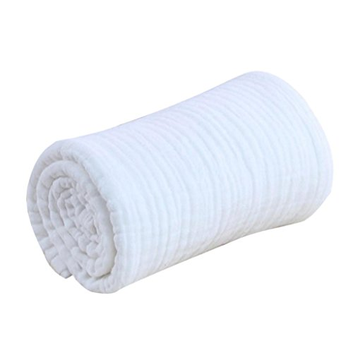 Preisvergleich Produktbild Baumwollgaze Kinder Kapuzenhandtuch Baby Babydecken Quilt Swaddle Wrap Pflege Badetuch Weiß - Weiß,  one size