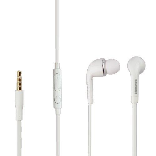 d-Set in Weiss für SM-G350 Galaxy Core Plus InEar In-Ear Kopfhörer Headset Ohrhörer Ohrstöpsel 3,5mm Stecker Stereo Sound SAMHW4 Bulk verpackt ()