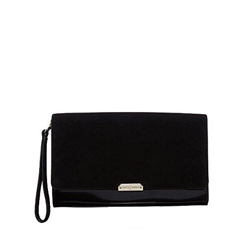 j-by-jasper-conran-black-suede-clutch-bag