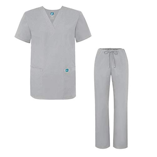 Unisex-Schrubb-Set - Medizinische Uniform mit Oberteil und Hose 701 Color SLV   Talla: M Slv Tasche