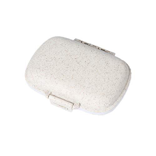 Lazder Tablettenbox mit 8 Fächern, für Vitamin- und Medikamente, tragbar