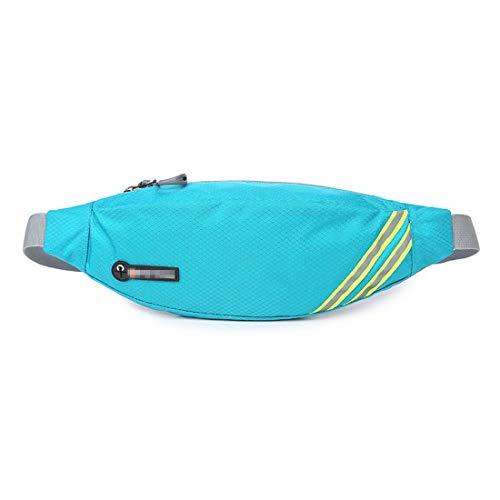 Tcaijing Gürteltasche,Hip Bag Crossbody Tasche Mit Kopfhöreranschluss Wasserdicht Mit Verstellbarem Für Camping Wandern Fitness Fahrrad Reisen (Color : B4#)