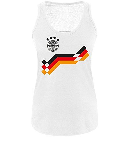 Luckja EM 2016 Deutschland Trikot Wunschname und Wunschnummer Motiv 18 Damen Tanktop