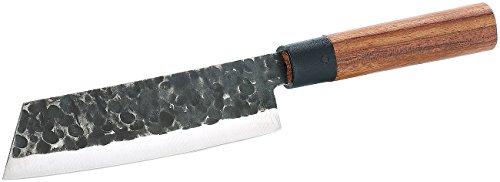 TokioKitchenWare Kochmesser: Fleischmesser mit Echtholzgriff, handgefertigt (Hackmesser)
