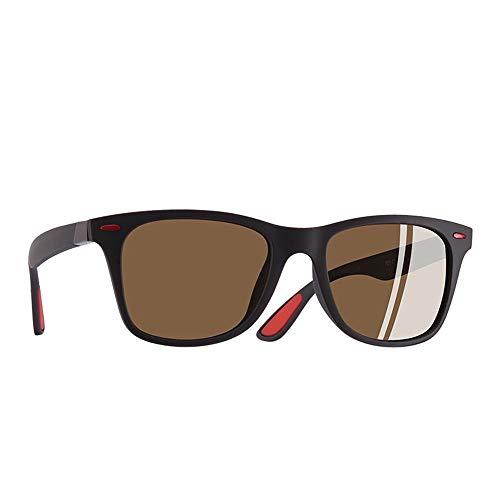 ZHOUYF Sonnenbrille Fahrerbrille Tr90 Polarisierten Sonnenbrillen Herren Und Damen Driving Square Sonnenbrillen Herren, D