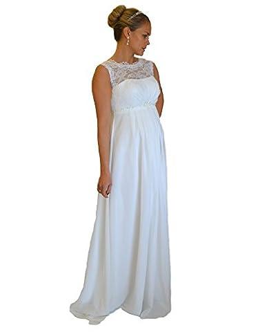 Brautkleid TRAUM Hochzeitskleid A-Linie Umstandskleid Weiß Ivory Größe 34 bis