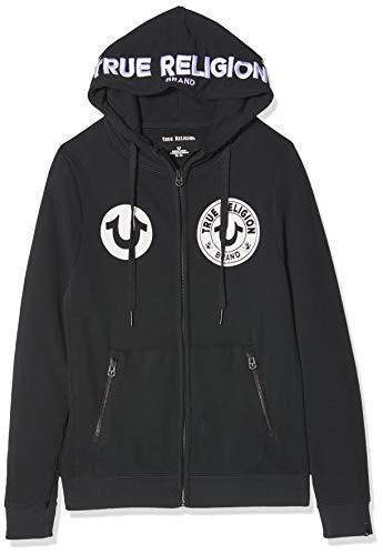 True Religion Herren Hooded JKT MULTILOGO Kapuzenpullover, Schwarz (Black 1001), (Herstellergröße: XX-Large)