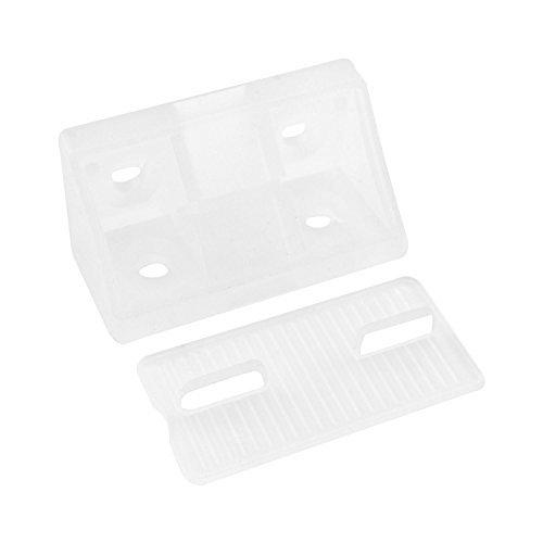 Preisvergleich Produktbild 10 Stück - GedoTec® Universal-Eckverbinder weiß Korpusverbinder aus Kunststoff   Möbelverbinder zum Schrauben mit Abdeckkappe   Breite 44 mm   Markenqualität für Ihren Wohnbereich