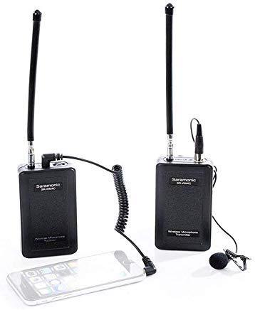 Saramonic SR-WM4C Wireless VHF Microfono Lavalier per Smartphone IOS iPhoneX 8 7 7 plus 6 iPad e Canon Nikon Sony Fotocamera DSLR Videocamera