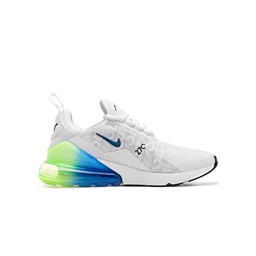 Nike Air MAX 270 Se, Zapatillas de Atletismo para Hombre, White/Lime Blast/Photo Blue 100, 42.5 EU