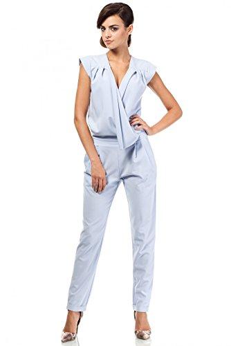 MOE Phantastischer Damen Overall Jumpsuit, Größe:36, Farbe:Hellblau