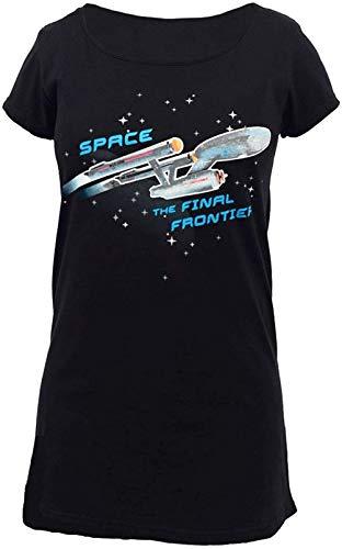 Star Trek Enterprise Ship Glow Ladies Sleep Shirt | Black | X-Large