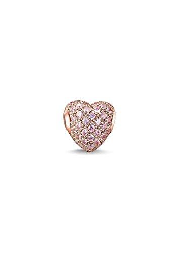 Thomas Sabo Damen-Bead Silber vergoldet Zirkonia pink - K0144-416-9
