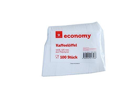 100 Einweg Kaffeelöffel 125mm weiß
