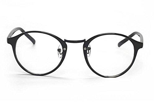 Hippolo Unisex Wayfarer Nicht verschreibungspflichtige Brillen Rahmen Clear Lens Brillen (Schwarz 1)
