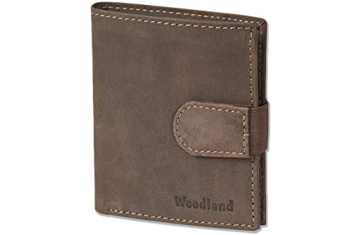 Woodland® - Super-Kompakte Geldbörse mit XXL-Kreditkartentaschen für 18 Karte...