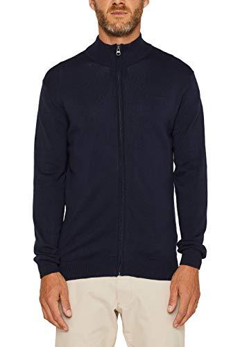 ESPRIT Herren 999Ee2I805 Pullover, Blau (Navy 400), Medium (Herstellergröße: M)