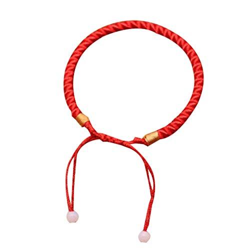 Fangfeen Trenzada Suerte Brazalete Rojo Cadena de Cuerda Cable de Regalo de la joyería Pulsera Pulsera de Buena Suerte