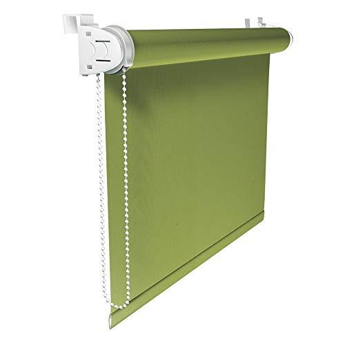 Victoria M. Klemmfix - Estor opaco para ventana (fijación sin taladrar) tamaño: 90 x 150 cm verde