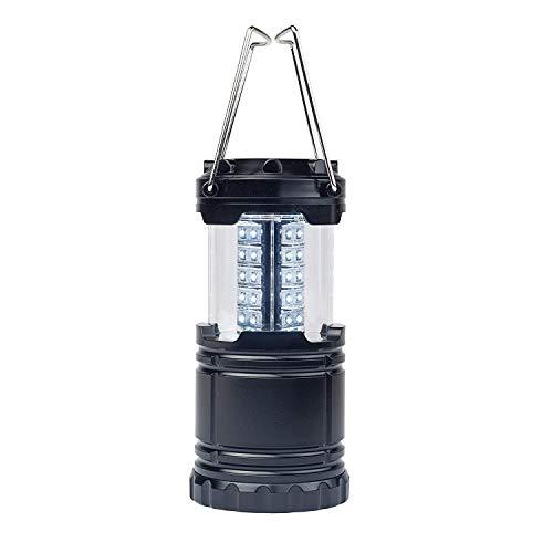 Jiayida - Farol portátil de aluminio impermeable a pilas AA 3X, linterna de camping para iluminación de emergencia senderismo, jardín, pesca, 2