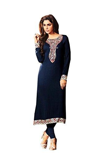 Pure Premium Cottton Rayon Embroidered Long Pakistani XXL Size Women Kurti