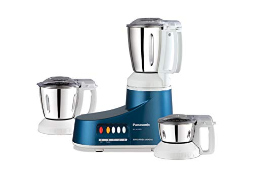 Panasonic Super MX-AC300S 550-Watt Mixer Grinder with 3 Jars (Blue)