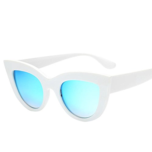 URSING Damen Mode UV Brillen Retro Vintage Cat Eye Katzenaugen Sonnenbrille Klassisch Dreieck Sonnenbrillen Mode Fashion Women Sunglasses Stylish Eyewear Damenmode Damenbrillen (A)