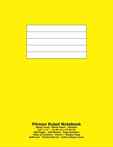 pitman-ruled-notebook-blank-lined-white-paper-85-x-11-2159-cm-x-2794-cm-200-pages-100-sheets-page-nu